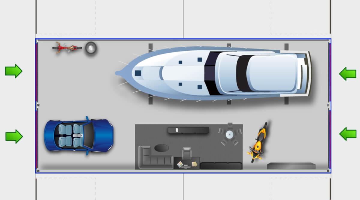 GuLP Typ D - XXL Garage - XXL Lagerraum - XXL Halle 104m² Nutzfläche