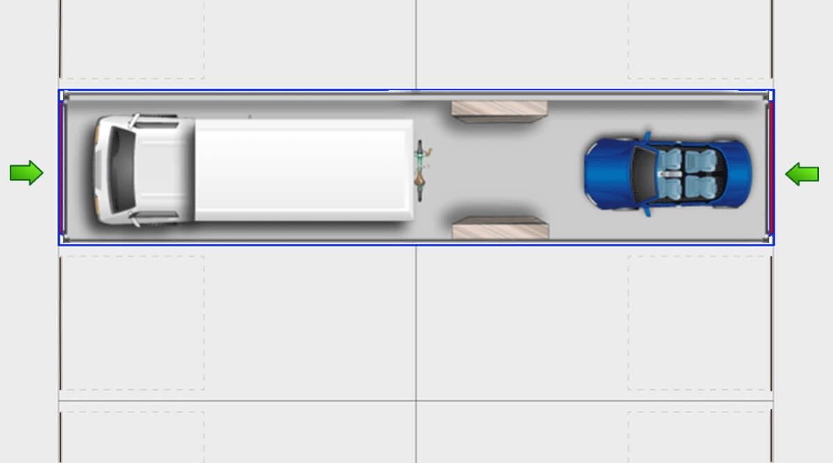 GuLP Typ C Doppelgarage lang - Lagerraum lang 52m² Nutzfläche