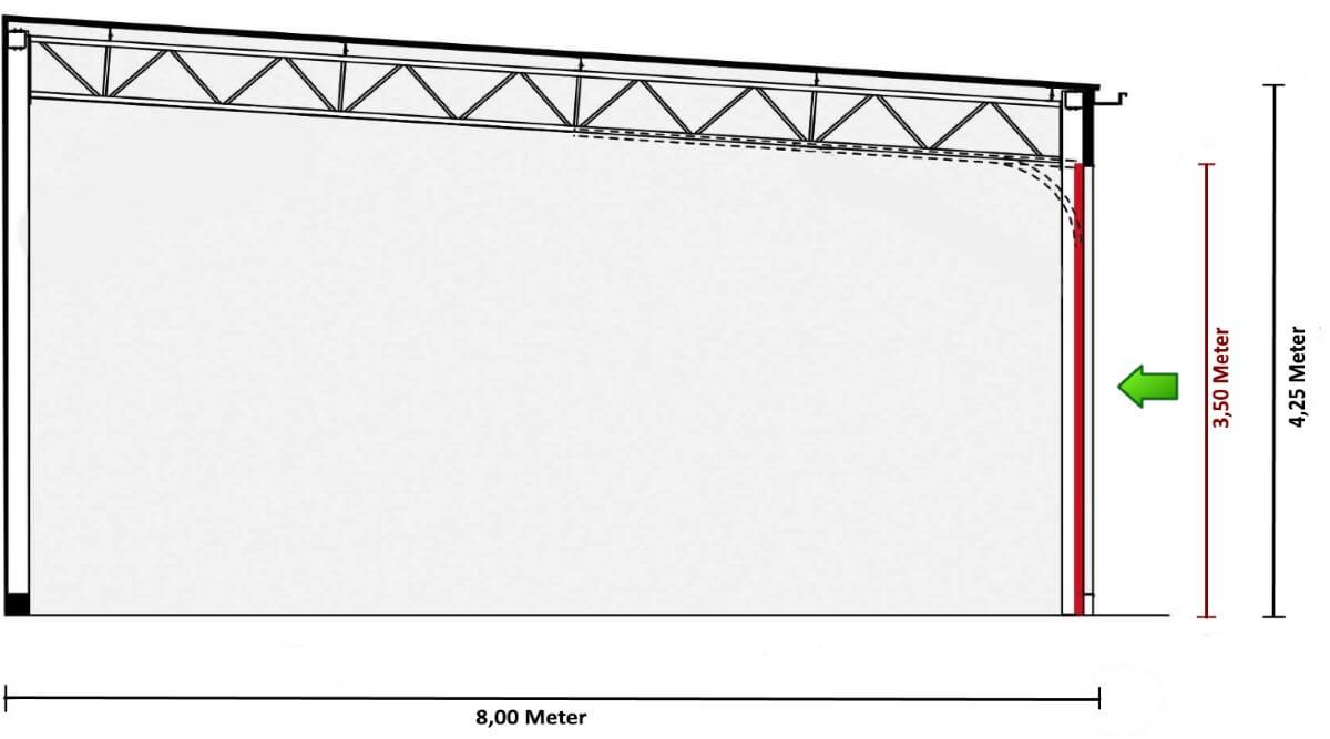 Lagerraum - Garage - Stellplatz - Außenmaße - rechts